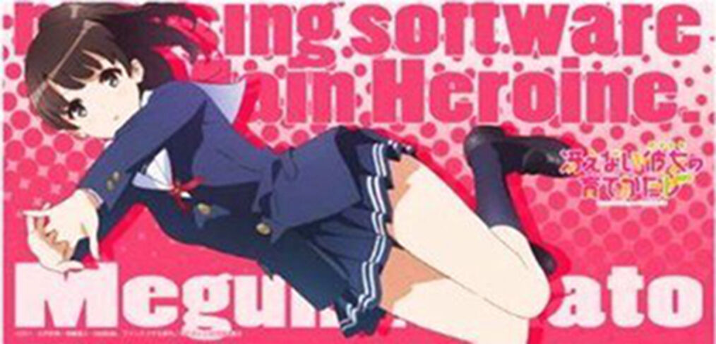 Saekano megumi katou kartenspiel charakter rubber play matte anime - sammlung