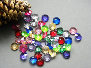 150 kristalle diamanten 12mm bunt farbwahl streuteile deko. Black Bedroom Furniture Sets. Home Design Ideas