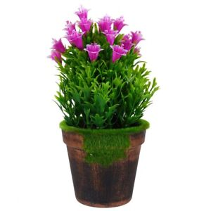Indoor Fake Plant Decor Artificial Flower Potted Plant for Shelf Centerpiece