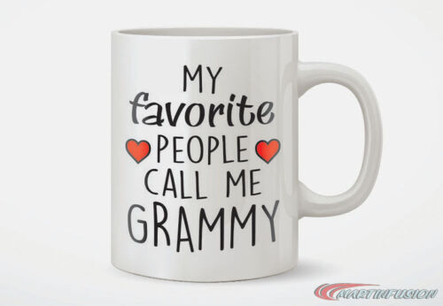 Gift for Grandma My Favorite People Call Me Grammy Coffee Mug