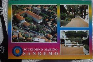 Dettagli su Cartolina Sanremo - Soggiorno Marino Regione Militare  Nord-Ovest - nuova