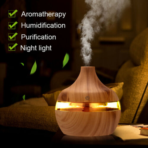 300ml Aroma Diffuser Ultraschall Luftbefeuchter LED 7 Farben Duftöl Humidifier