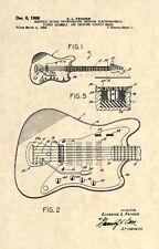 Official 1966 Fender Guitar US Patent Art Print Vintage Antique Original 223