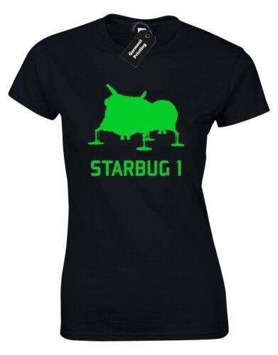 STARBUG 1 red dwarf femmes t shirt london jets jmc LISTER rimmer culte espace bbc