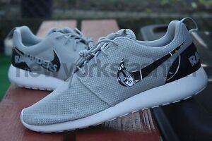 Nike Roshe Run Custom Grey Oakland Raiders Football Custom