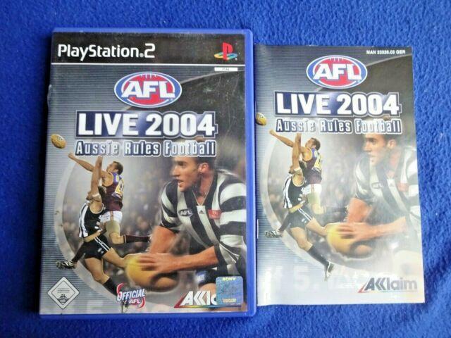 AFL Live 2004 (Sony PlayStation 2, 2003, DVD-Box)