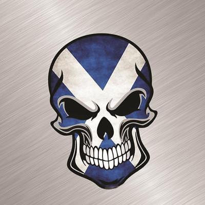 Scottish Distressed Skull Vinyl Decal Sticker Scottland