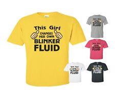 100/% Cotton 6oz Preshrunk This Girl Changes Her Own Blinker Fluid T-Shirt