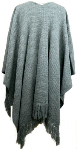 NEW IN LADIES WOMENS KNITTED  SHAWL CAPE CARDIGAN PONCHO PLAIN /& AZTEC ONESIZE