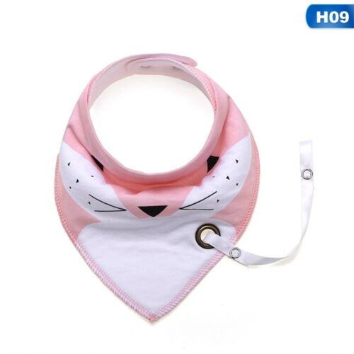 Baby Infant Toddler Triangle Bandana Bib Saliva Towel with Pacifier Clip Goodish