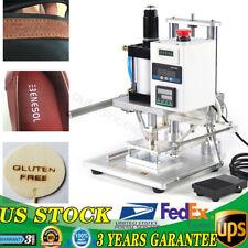 Air Pneumatic Hot Foil Stamping Machine Logo Leather Press Ironing Machine 110v