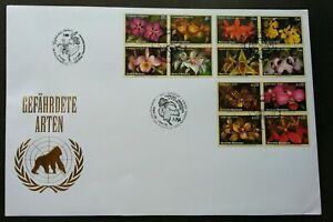 [SJ] United Nations Endangered Species Orchids 2005 Flower Flora Plant (FDC)