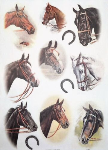 Rice Paper Horses for Decoupage Scrapbook and Crafting 76