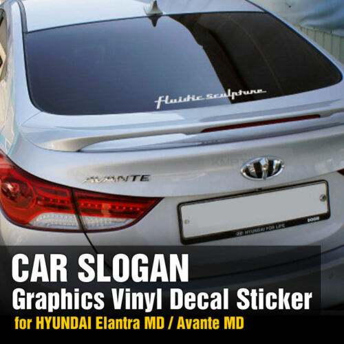 Slogan Graphics Vinyl Decals Custom Sticker 16.93in For HYUNDAI 11-16 Elantra MD