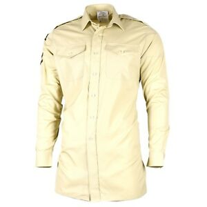 Details about Original British army Khaki shirts military surplus issue  uniform dress
