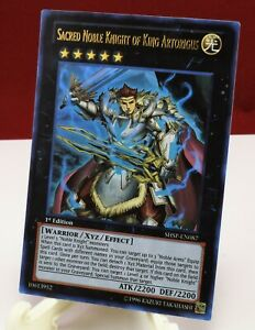 Yu-Gi-Oh Sacred Noble Knight of King Artorigus SHSP-EN087 Ultra Rare 1st Edition