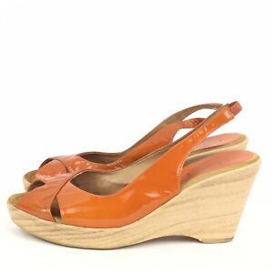 Details zu UNISA Damen Sandaletten Lackleder Orange Gr. 38