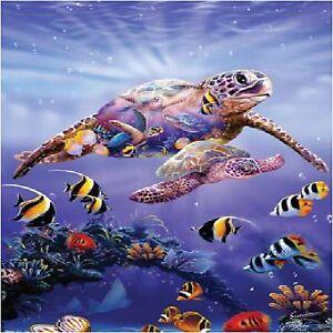 Tropical Sea Turtles Angel Fish 2 Image Coasters Sets U