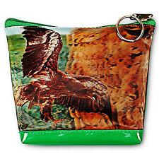 3D Lenticular Universal Purse Bag Brown Hawk Eagle Flying #PK-068-PAVIA#