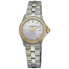RAYMOND WEIL Parsifal Oro Y Diamante señoras reloj 9460-SG-97081 - PVP 1750 € - nuevo