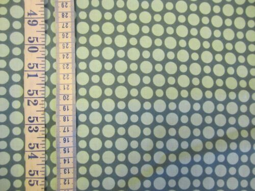 Turqoise tissu avec plus pâle pois 100/% coton de riley blake