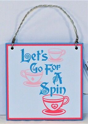 Disney Parks Exclusive Lets Go For A Spin /& I Live In Fantasyland Ornament NEW