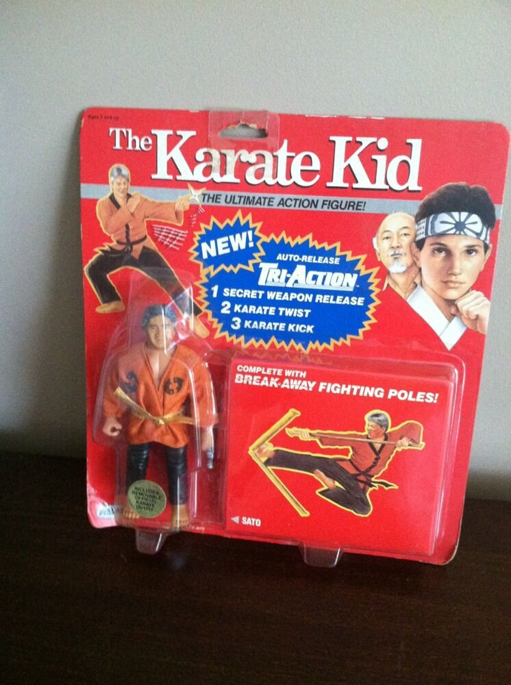 1986 Remco The Karate Kid SATO Ultimate Action Figure On Rare rosso Card