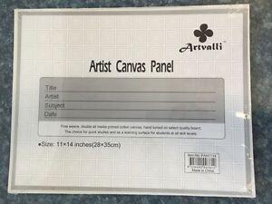 "10 Blank Canvas Panels 11"" x 14"" Artist Canvas Panel Board Wholesale Bulk Arts 9328400007612"
