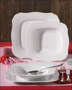 24 tlg tafelservice tafelset tellerset f r 12 personen porzellan wei romantika ebay. Black Bedroom Furniture Sets. Home Design Ideas