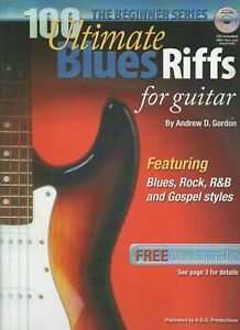 100 Ultimate Blues Riffs For Guitar Beginner Series-afficher Le Titre D'origine