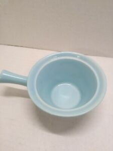 Vintage-USA-marked-Blue-Sugar-Bowl-with-Handle-No-Lid-5-034-X-3-034-handle-3-034-glazed