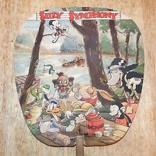 Rare 1930s Walt Disney Enterprises SILLY SYMPHONY Advertising Fan, Vintage Orig.