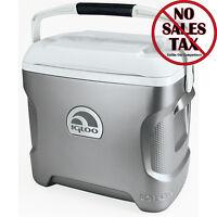 Portable Car Fridge Electric Travel Cooler Camping Compact Mini Chest 12v 28 Qt