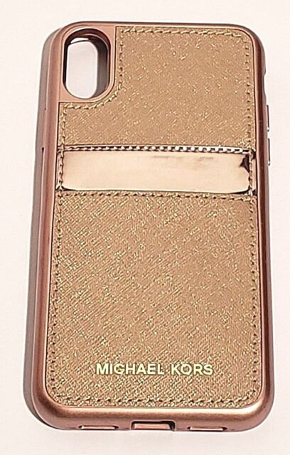 613f3230f5fa9 Michael Kors Saffiano Leather Phone Case for iPhone X (10) - Rose gold
