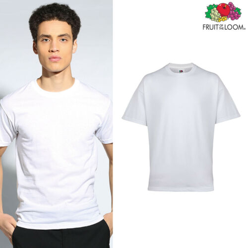 Pack of 3 Fruit of the Loom Plain white tees Mens Cotton Underwear T-shirt