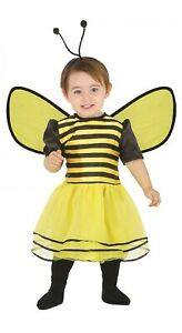 Baby-Girls-Bumble-Bee-Mini-Beast-Carnival-Fancy-Dress-Costume-Outfit-6-24-Months