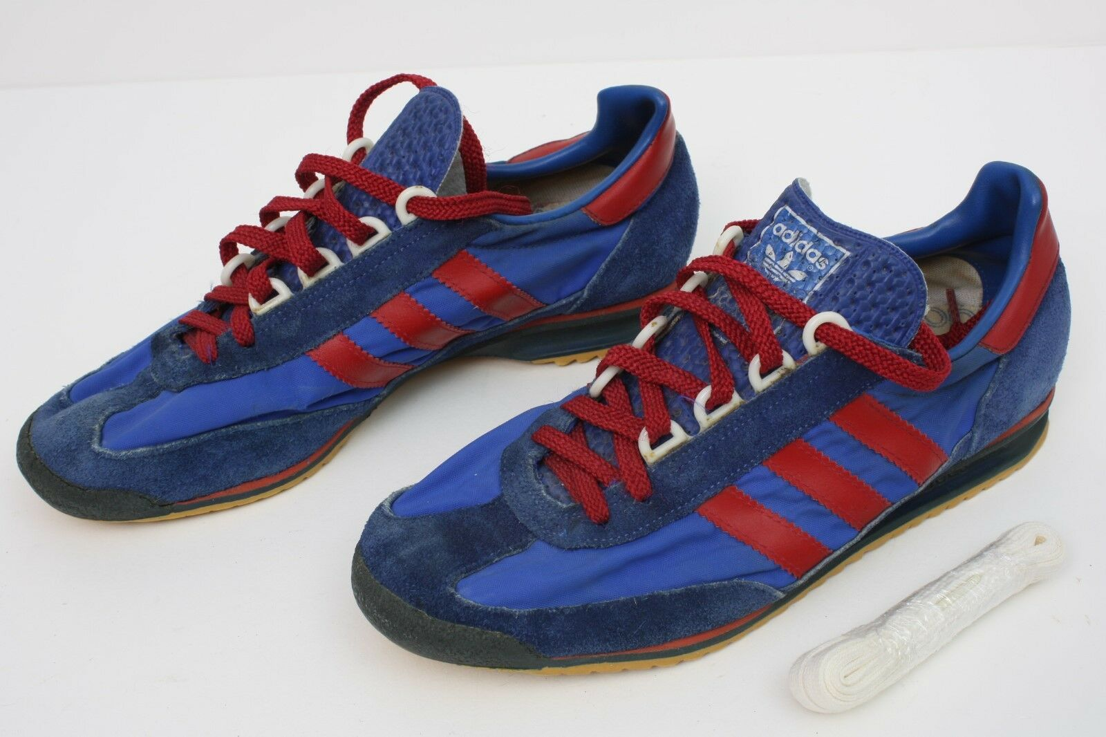 1976 VINTAGE ADIDAS SL76 Trainer bluee Red stripes US sz 6.5 (37) Starsky Hutch