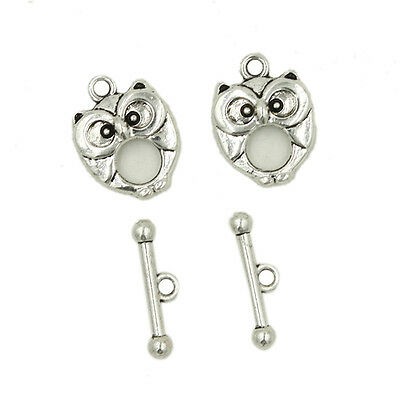 20/100x New Sale Various Vintage Silver Charms Alloy IQ Buckles Toggle Clasps LC