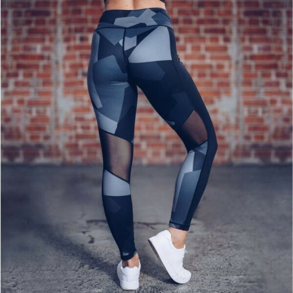 Sport Leggings Fitness Workout bunt Transparent  90 % Baumwolle 10 % Elastan