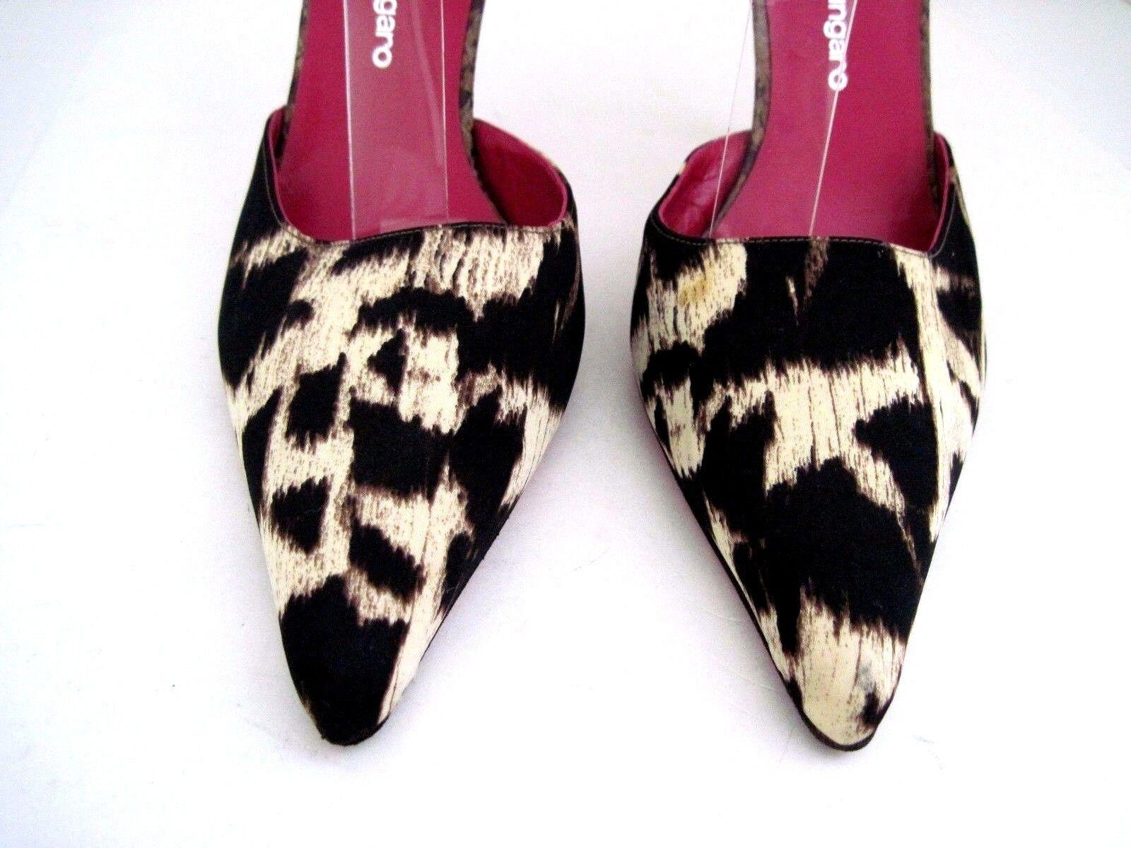 EMANUEL Straps UNGARO Animal Print Fabric SnakeSkins Heels Ankle Straps EMANUEL SZ 10 B  54d6c7