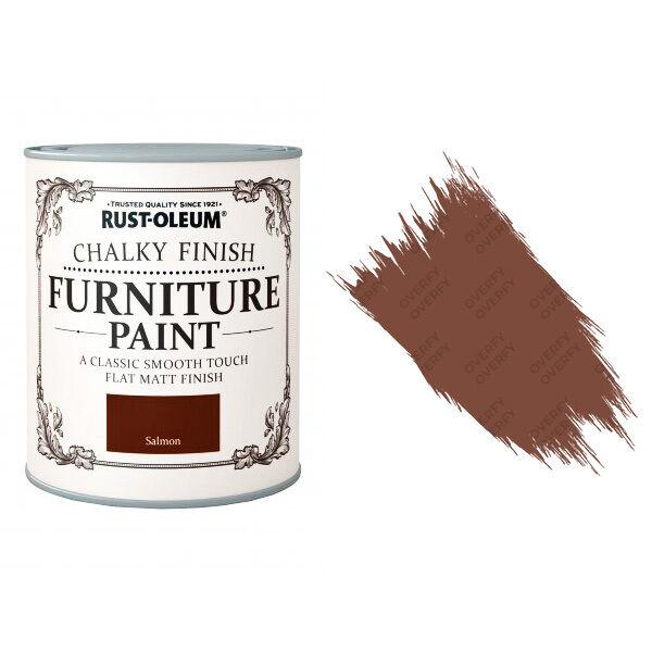 Rust-Oleum Tiza Calcáreo Muebles Pintura Chic Shabby 125ML Salmón Mate