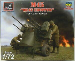 "M45"" Carne Chopper"" 4x .50 Aa-Gun, 1/72 , Armory,Plástico,Aguafuerte,Novedad"