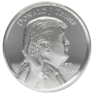 2 Troy Oz Donald Trump 999 Fine Silver Round Ebay