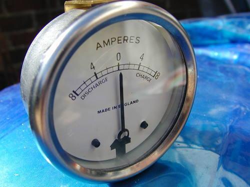 "2/"" white face AMMETER 8-0-8 DIAL 6 volt 12 volt gauge made in England quality!"