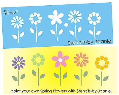 Designs Joanie Stencil Happy Spring Garden Flowers Polka Dots Easter Porch Signs