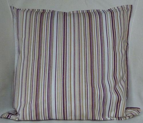 "Cushion Cover retro white stripe print 100/% cotton zipped 18/"" /& 16/"" FREE p/&p"