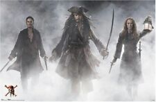 PIRATES OF CARIBBEAN~ AT WORLD'S END ~ TRIO FOG 27x39 MOVIE POSTER 3 NEW/ROLLED!