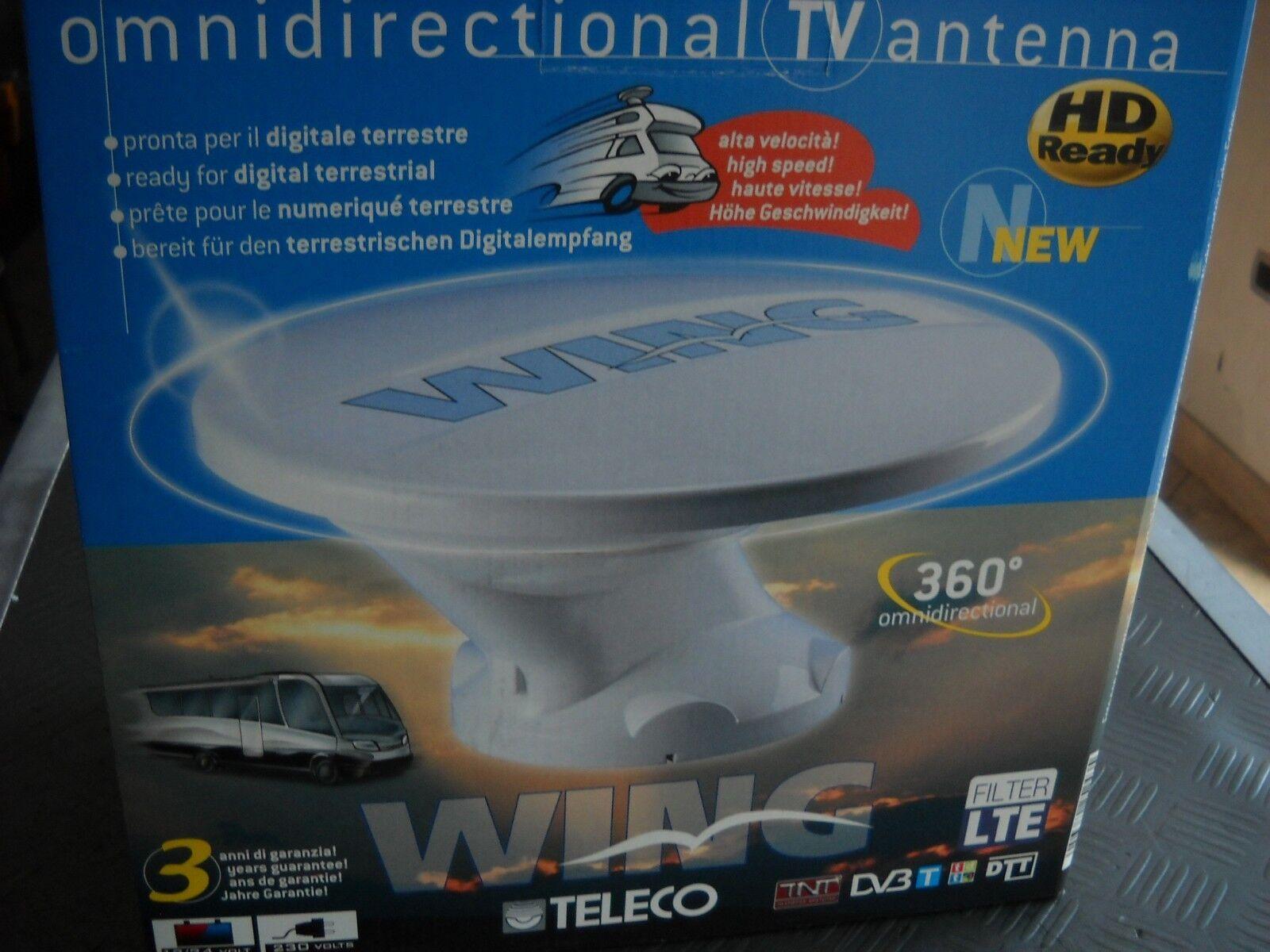 ANTENNA OMINIDIREZIONALE 360° FULL HD AMPLIFICATA  TELECO  PER CARAVAN & CAMPER