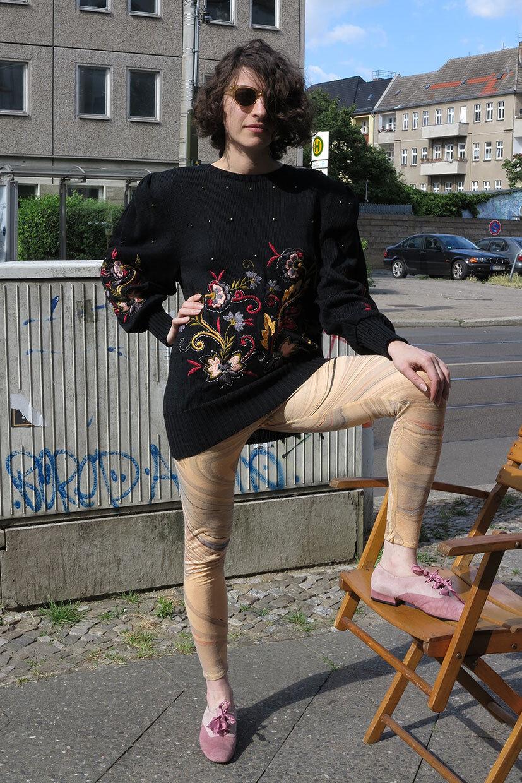 Maria Theresia Spieker Design Luxury Pullover 80er True True True Vintage 80s Jumper NOS c4d889