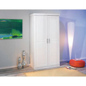 Armoire penderie dressing rangement chambre moderne 2 portes pin ...